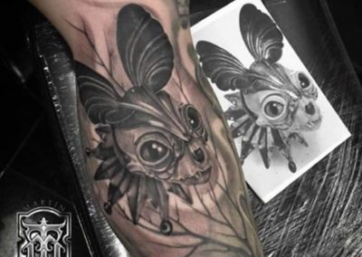 MARTIN THORNTON<BR>INKY ENVY CUSTOM TATTOO